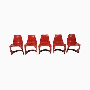 Chaises de Salon Vintage par Steen Ostergaard pour Cado, 1970s, Set de 5