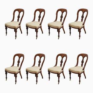 Viktorianische Esszimmerstühle, 8er Set