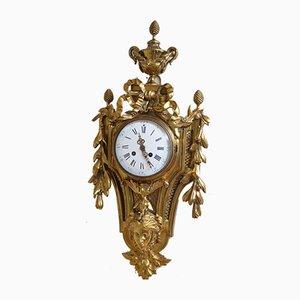 Orologio in legno dorato, fine XIX secolo