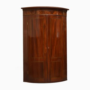 Antique George III Mahogany Corner Cupboard