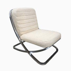 Metal Lounge Chair, 1970s