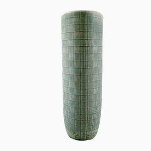 Glasierte Luna Keramikvase mit geometrischem Muster von Rörstrand, 1960er