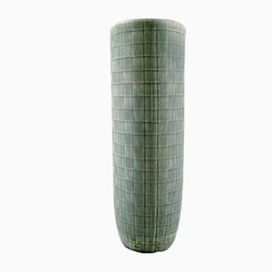 Glazed Geometric Pattern Ceramic Luna Vase from Rörstrand, 1960s