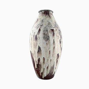 Große glasierte Art Déco Keramikvase, 1940er