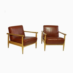 Armchairs by Jussi Peippo for Asko, 1950s, Set of 2