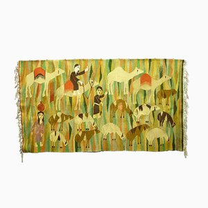 Mid-Century orientalischer Wandbehang, 1950er