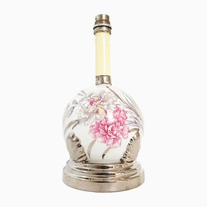 Lámpara de mesa francesa Art Déco de porcelana de Limoges de Elbé, años 20