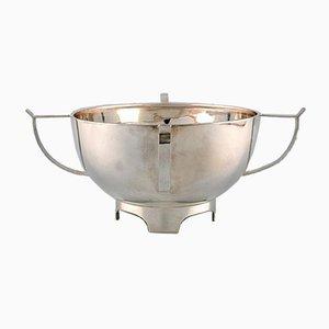Cuenco moderno de plata de Henry Wilkinson, años 20