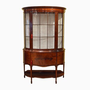Antique Edwardian Mahogany Display Cabinet