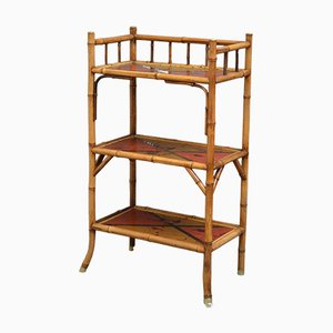 Antique Victorian Bamboo Etagere