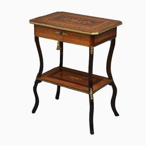 Mesa de costura antigua de palisandro