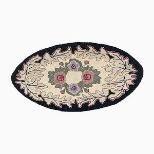 Amerikanischer ovaler Vintage Teppich
