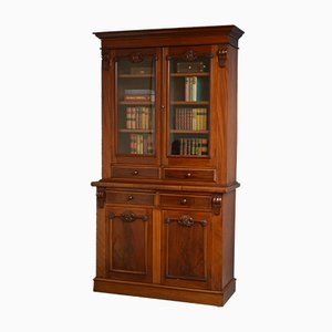 Viktorianisches Bücherregal aus Mahagoni, 1880er