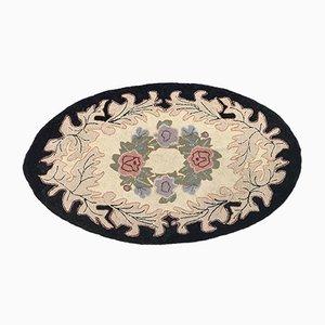 Amerikanischer ovaler Vintage Teppich, 1970er