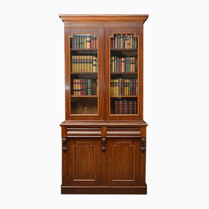 Antiker viktorianischer Bücherschrank aus Mahagoni