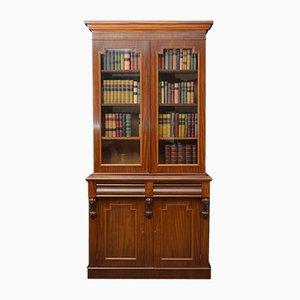 Bibliothèque Victorienne Antique en Acajou