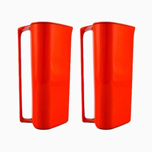 Modernist Jugs by Sigvard Bernadotte for Husqvarna, 1970s, Set of 2