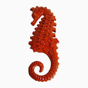 Wall Ceramic Seahorse by Sanchez, 1970s