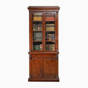 Antikes William IV Bücherregal aus Mahagoni