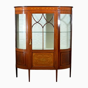 Antique Edwardian Inlaid Display Cabinet