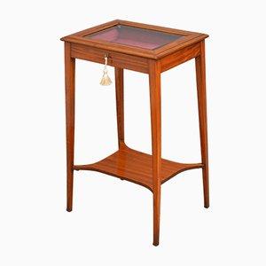 Table de Bijouterie Édouardienne Antique en Bois de Satin