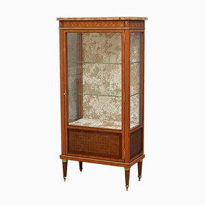 Antique Rosewood Inlaid Vitrine