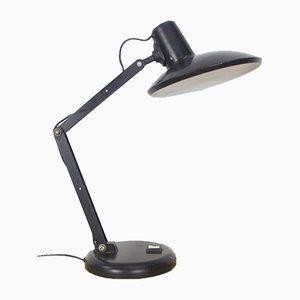 Industrielle schwarze Tischlampe, 1960er