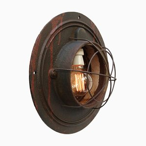 Vintage Industrial Cast Iron Hanging Light, 1950s
