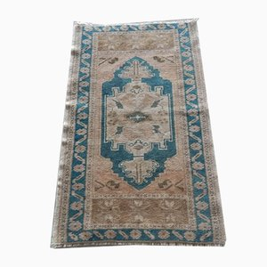 Kleiner Vintage Yastik Teppich aus Niedrigflor, 1970er
