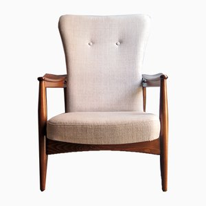 Verstellbarer Sessel mit hoher Rückenlehne, 1960er