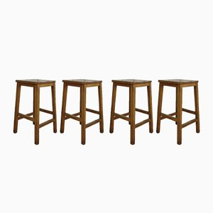 English School Lab/Bar Stools, 1940s, Set of 4