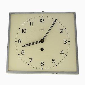 Reloj de pared mecánico checoslovaco moderno de PRIM, años 30