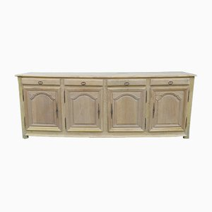 Antique French Bleached Oak Sideboard