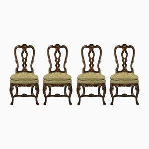 Antike George II Esszimmerstühle, 1760er, 4er Set