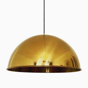 Lampe à Suspension en Laiton par Florian Schulz, 1960s