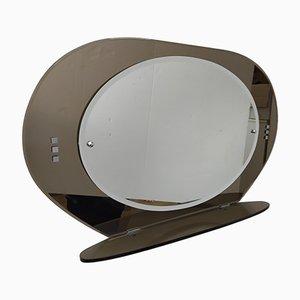 Mid-Century Badezimmerspiegel mit getöntem Glasrahmen
