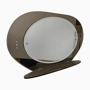 Mid-Century Modern Bathroom Mirror with Tinted Glass Frame