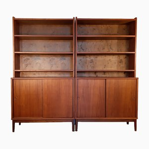 Mid-Century Scandinavian Teak Wall Units from Plyfa, 1950s, Set of 2