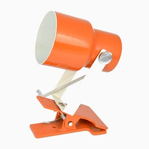 Small Czechoslovak Orange Clip Lamp from Lidokov, 1970s