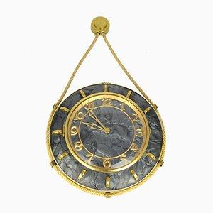 Reloj de pared alemán Mid-Century mecánico de UPG Halle