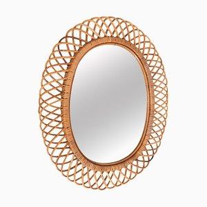 Mid-Century Rattan Mirror, 1960s