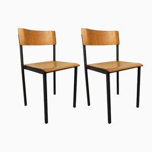 Deutsche Werkstattstühle, 1960er, 2er Set
