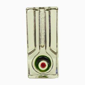 Jarrón Soliflor alemán de cristal de Walther Glas, años 70