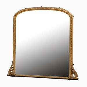 19th Century Gilded Overmantle Mirror