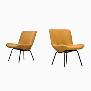 Finnish Lehti Easy Chairs by Carl Gustaf Hiort af Ornäs for Puunveisto - Oy, 1950s, Set of 2