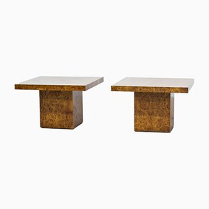 Burl Elm Coffee Tables, 1970s, Set of 2