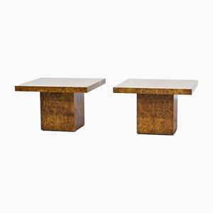 Tavolini da caffè in olmo, anni '70, set di 2