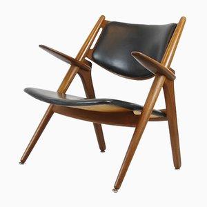 Chaise CH28 Sawbuck Vintage par Hans J. Wegner pour Carl Hansen & Søn, 1950s