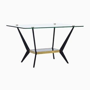 Brass, Glass & Metal Coffee Table by Angelo Ostuni, 1950s