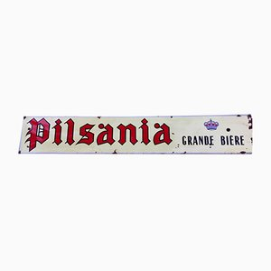 Enameled Pilsania Beer Sign, 1940s